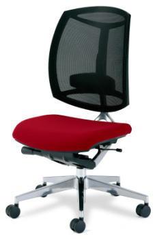 プラス製 快適な座り心地 SOHO・自宅、医療、福祉施設・病院・公共施設・学校、学習塾向け フォーサイトチェア(Foresigt) KC-MS73SL[1脚][背メッシュ][座布][選べる張地カラー全2色][ハイバック][可動肘付][ナイロンキャスター]事務用回転椅子