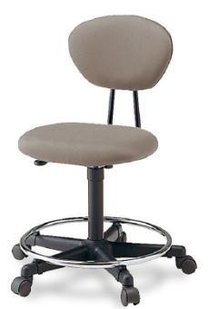 プラス ジェスティックチェア ドラフトマンタイプ[フットレスト付][Jestic] KC-126NL[選べる張地カラー全4色][ローバック][L型付][背ロッキング][ガス圧上下昇降][カーペット用キャスター][事務用回転椅子]SOHO・自宅、医療、福祉施設・病院・公共施設・学校、学習塾向け