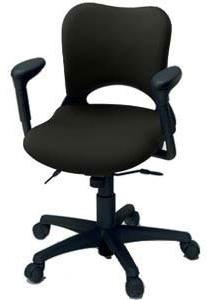 プラス製 オーバルチェア(Oval) KD-Z26SEL[選べる張地カラー全8色][ダークグレーシェル][ローバック][可動肘付][選べるキャスタータイプ][事務用回転椅子] SOHO・自宅、医療、福祉施設・病院・公共施設・学校、学習塾向け