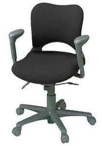 プラス製 オーバルチェア(Oval) KD-Z16SEL[選べる張地カラー全8色][ミディアムグレーシェル][ローバック][可動肘付][選べるキャスタータイプ][事務用回転椅子] SOHO・自宅、医療、福祉施設・病院・公共施設・学校、学習塾向け