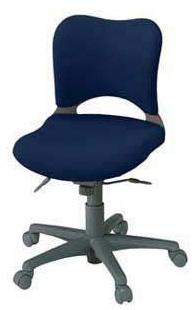 プラス製 オーバルチェア(Oval) KC-Z16SEL[選べる張地カラー全8色][ミディアムグレーシェル][ローバック][肘なし][選べるキャスタータイプ][事務用回転椅子] SOHO・自宅、医療、福祉施設・病院・公共施設・学校、学習塾向け