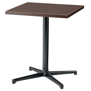 プラスジョインテックス シングルレッグテーブル SC-X0606K[ブラウンオーク色][アジャスター付]オフィス,SOHO,カフェ,リフレッシュスペース,ご自宅,医療,福祉施設,病院,公共施設,学校,学習塾向け