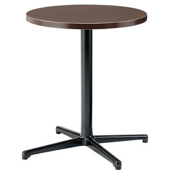 プラスジョインテックス シングルレッグテーブル SC-X0606R[ブラウンオーク色][アジャスター付]オフィス,SOHO,カフェ,リフレッシュスペース,ご自宅,医療,福祉施設,病院,公共施設,学校,学習塾向け