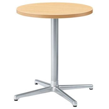 プラスジョインテックス シングルレッグテーブル SC-X0606R[ナチュラルビーチ色][アジャスター付]オフィス,SOHO,カフェ,リフレッシュスペース,ご自宅,医療,福祉施設,病院,公共施設,学校,学習塾向け