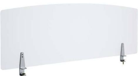 法人様配送限定特価 幅120cmタイプ 信憑 机上面からの高さ450mm 送料込 北海道 沖縄 離島を除く PB-H デスクパネルクリア W1200×D40×H505mm テーブル向けの間仕切り アクリル部:クリアフロスト仕上げ クランプタイプ スクリーン ブラインド クランプ部:シルバーメタリック 各種デスク 衝立 お買い得 お客様組立 パーティション