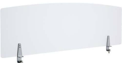 法人様配送限定特価 幅140cmタイプ 机上面からの高さ350mm 送料込 北海道 沖縄 離島を除く PB-H デスクパネルクリア W1400×D40×H355mm 直営店 衝立 テーブル向けの間仕切り パーティション ブラインド お客様組立 各種デスク ☆正規品新品未使用品 クランプタイプ アクリル部:クリアフロスト仕上げ クランプ部:シルバーメタリック スクリーン