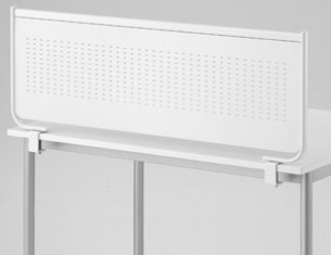 PB-H スチールデスクトップパネル[選べる全2色][W1398×D49×H365mm][クランプタイプ]【お客様組立】各種デスク・テーブル向けの間仕切り,パーティション,ブラインド,衝立,スクリーン