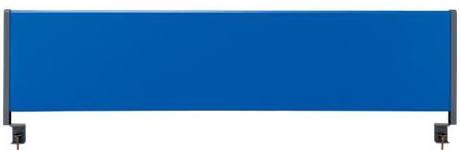法人様配送限定特価 幅140mのデスク用 オプションのアクリルサイドパネルを取り付ければ プライベートスペースが作れます 送料込 北海道 沖縄 離島を除く 林製作所 期間限定特別価格 デスクトップパネル スチールタイプ ブラインド 半額 テーブル向けの間仕切り お客様組立 スクリーン ブルー 各種デスク YSP-S140BL クランプタイプ W1380×D61×H405mm 衝立 パーティション