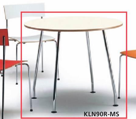 会議用テーブル KLN型 【 丸型天板 】 【 選べる天板カラー 全2色 】 【 φ900×H720mm 】 【 軽量 12.5kg 】 ビジネスオフィス リフレッシュ用テーブル カウンターテーブル ミーティングテーブル