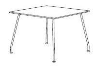 会議用テーブル KLN型 【 正方形型 スクエア天板 】 【 選べる天板カラー 全2色 】 【 W900×D900×H720mm 】 【 軽量 16.5kg 】 ビジネスオフィス リフレッシュ用テーブル カウンターテーブル ミーティングテーブル
