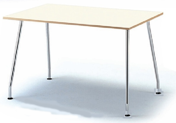 会議用テーブル KLN型 【 長方形型 スクエア天板 】 【 アジャスタータイプ 】 【 選べる天板カラー 全2色 】 【 W1200×D800×H720mm 】 【 軽量 11.4kg 】 ビジネスオフィス リフレッシュ用テーブル カウンターテーブル ミーティングテーブル