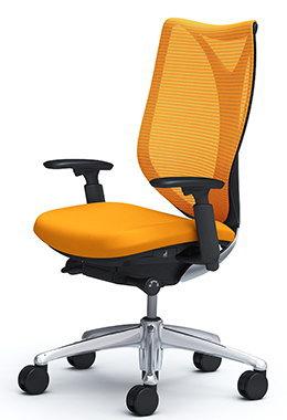 サブリナ スタンダード[メッシュチェア] [選べる全14色][ブラックボディ][ハイバック][アジャストアーム(可動肘)付き][ハンガーなし・ランバーサポートなし][事務用回転椅子](C853BR)