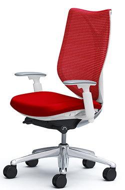 サブリナ スタンダード[メッシュチェア] [選べる全14色][ホワイトボディ][ハイバック][アジャストアーム(可動肘)付き][ハンガーなし・ランバーサポートなし][事務用回転椅子](C853BW)