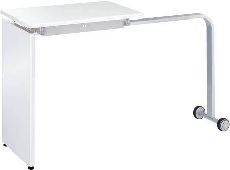L型対応テーブル 【 H700 】 【 天板アジャスター付き 】 【 キャスター付き 】 【 選べるカラー 】  デスクサイドテーブル ミーティングテーブル  ビジネオフィス向け