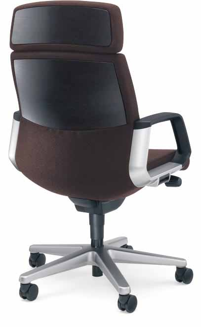 マネージメントチェアー 320シリーズ 【 突板タイプ 】 【 ヘッドレスト付き 】 【 サークル固定肘 】 【 布張り 選べる張地カラー 全3色 】 【 選べるキャスタータイプ 】 椅子 320 SERIES PCチェア パソコンチェア OAチェア 役員用椅子 社長用椅子 重役用椅子