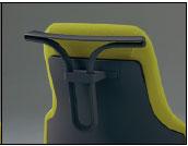 グーフォチェア専用オプション ハンガー【ブラック色】【完成品】【チェアへはお客様取付】※チェアは商品に含まれておりません