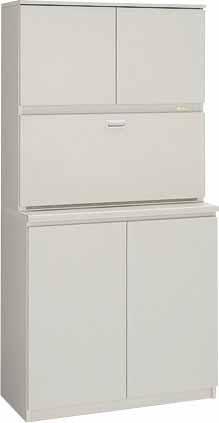 ビジネスキッチン 【 木製食器収納ユニット 】 W900×D450×H1800 【 選べるカラー 全2色 】  木製だから、扉の開閉音が静か