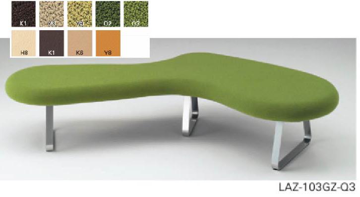 イトーキ 3シーターベンチ 1脚 【 選べる張地カラー 全9色 】 【 完成品 】 アメニティ家具 フローラウンジ 庭をデザインモチーフ ロビーチェア ITOKI