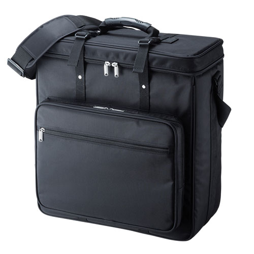 【 05/25AM 在庫有 】 サンワサプライ プロジェクターバッグ BAG-PRO5 【 W430×D170×H455mmまでのプロジェクターに対応 】 【 ナイロン製 撥水加工 ブラック色 】 【 ショルダーベルト付き 】 【 付属 クッション材、仕切り、底固定ベルト 】