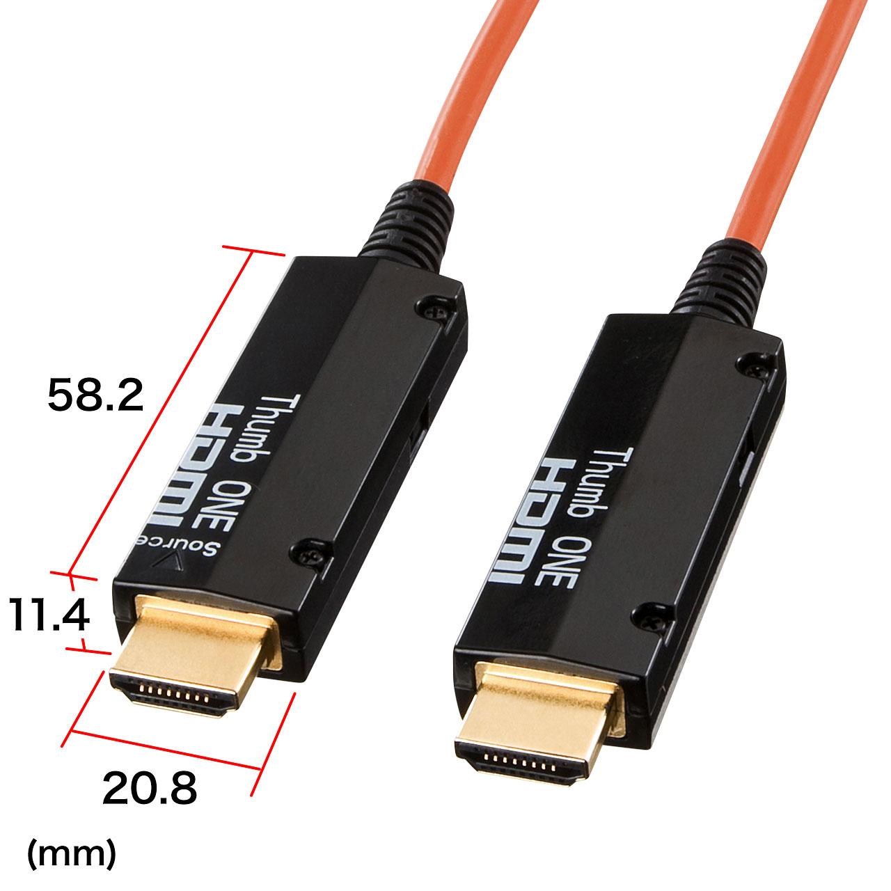 SANWA SUPPLY ケーブル長 100m 現品 長距離でも安定した信号を伝送可能な850nm光ファイバを採用 対応解像度 480p 720p 1080i 1080p セール特価品 DeepColor対応 08 長距離伝送可能な光ファイバ採用 離れた場所に便利 23AM 取扱説明書 1ケ KM-HD20-FB100 在庫潤沢 劣化しにくい金メッキピン 付属 ACアダプタ サンワサプライ 光ファイバHDMIケーブル