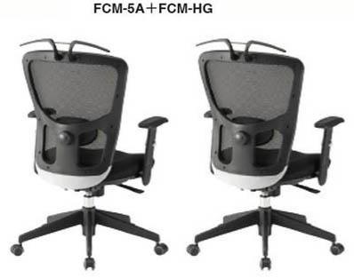 【 法人格限定 】 オフィスチェア FCM-5Aチェア+CM-HG 可動肘+ハンガー付き 2脚セット 【 ランバーサポート付 】 【 布張り ブラック色 】 事務用回転椅子 TOKIOチェア