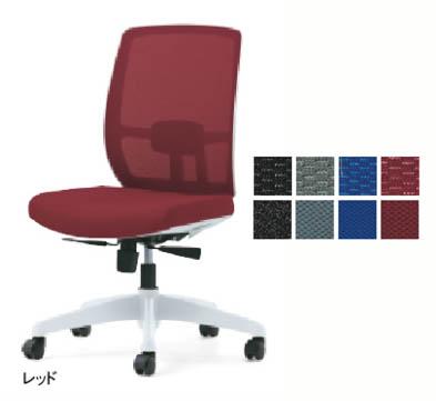 PLUS メッシュチェア BJチェア 【 肘なし 】 【 ランバーサポート付き 】 【 背座同色 選べる張地カラー 全4色 】 【 選べるキャスタータイプ 】 【 完成品渡し 】 【 腰痛対策 】 事務用回転椅子 プラスチェア
