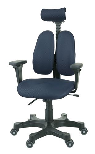 デュオレストチェア[DUOREST]DRシリーズ DR-7501SP[ブルー(KNIT BLUE)][ヘッドレスト/可動肘付][背もたれ上下左右調節][リクライニング機構][ガス圧上下昇降][事務用回転椅子]オフィス,SOHO,書斎,パソコン,会議室,病院,設計事務所,学校,学習塾向け