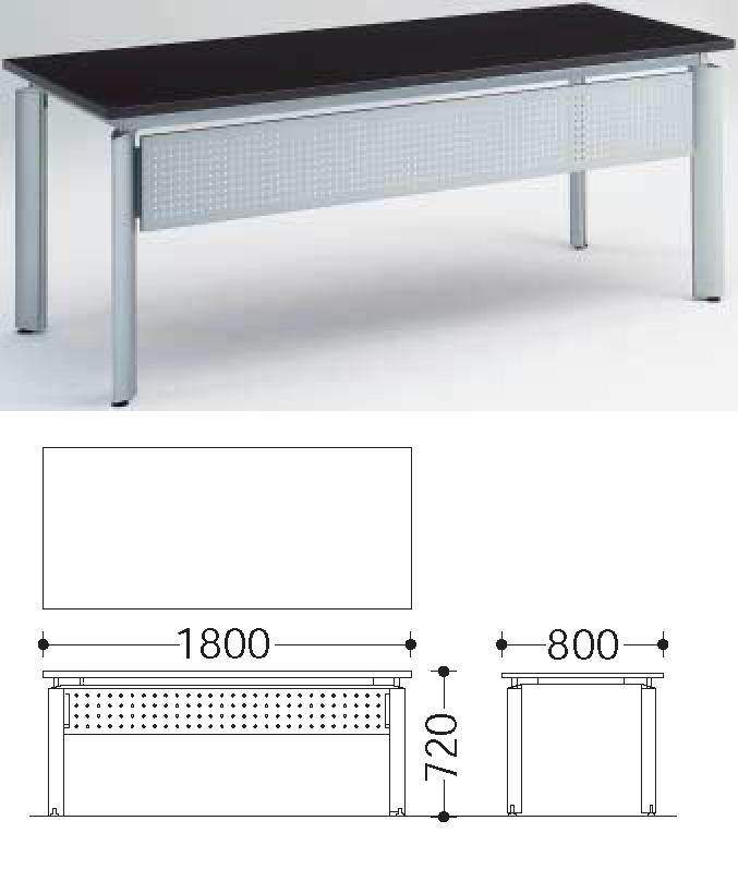 EX-100 エクゼクティブ 【 平机 1800W 】 ( 幕板付 ・ 配線機能付 )  高級・重役役員用 オフィス テーブルです!   エグゼクティブ ファニチュア Executive Furniture
