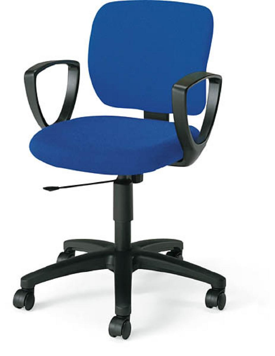 コクヨ イーザチェア 【 背総張り 】 【 背座同色 】 【 肘付き 固定肘 サークル肘 】 【 選べる張地カラー 全13色 布張り 】 【 完成品渡し 】 事務用回転椅子 オフィスチェア デスクチェア