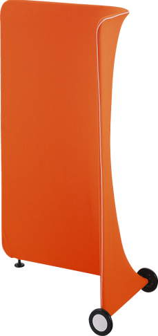 デザインスクリーン ドーム ( DOME ) 【 L型 右アールタイプ 】  W950×D560×H1500mm ・ 7.2kg  全6色のカラーバリエーション   簡単間仕切り   可動式パーティション