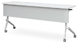 アイリスチトセ CFT89D-1560MT フォールディングテーブル[1500W×600D×720Hmm][ABS幕板付(グレー色)][棚付][カバンフック付][アジャスター機能付キャスター付(ストッパー2ヶ所付)][アルミダイキャスト脚][選べる天板カラー全2色][お客様組立]