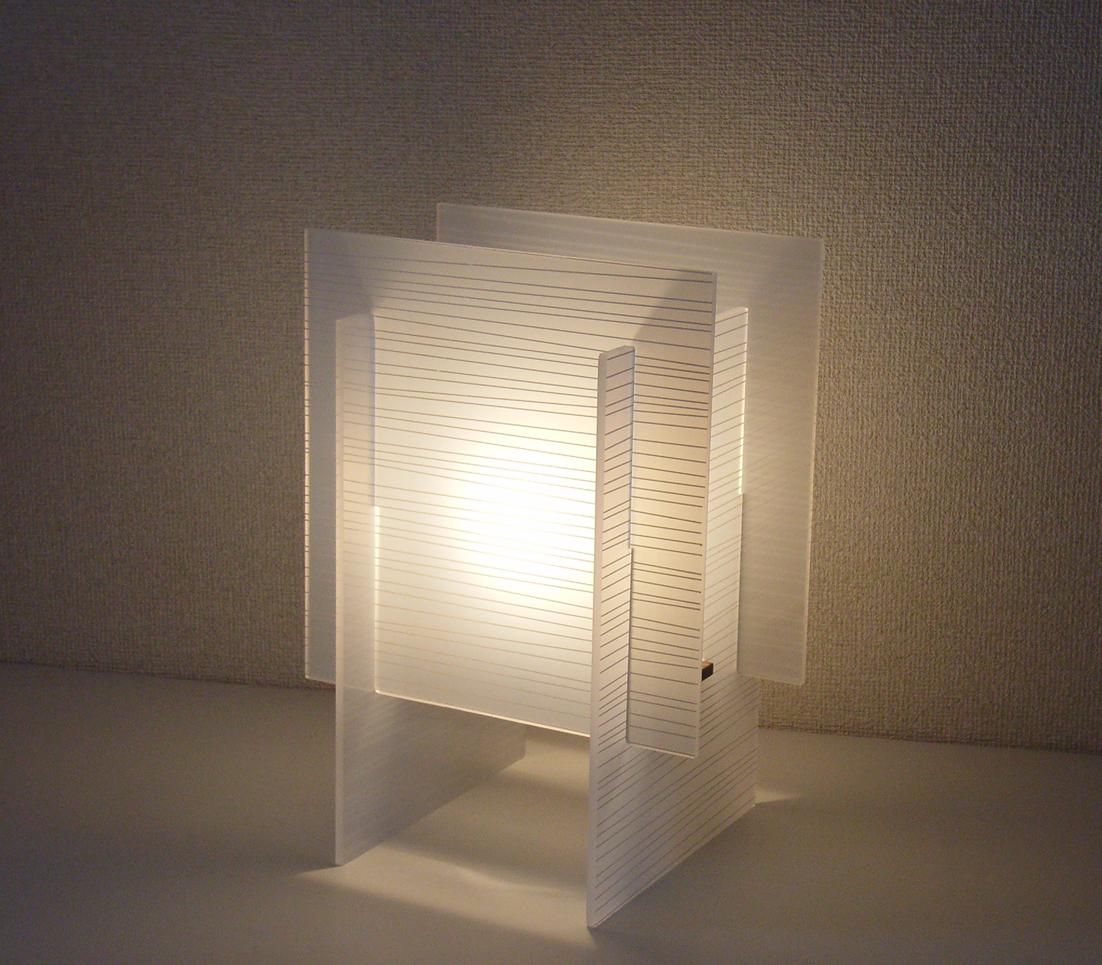 テーブルスタンド S8060A 【 ANDON-EF アンドン 】 【 E17 電球型蛍光灯 EFA 15W型×1 (電球色) 】 【 アクリル色 】 【 H340×W240×D200 】 【 中間スイッチ付き 】 【 省エネ 】 デスクスタンド 卓上スタンドライト dcs デザイン照明