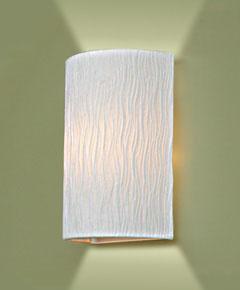 ブラケットライト WB5009LE  【 WAVE-LE ウェイブ 】 【 E17 LED電球 5W型×1 (電球色) 】 【 ホワイト色 】 【 H260×W170×D100 】 【 省エネ 】 【 軽量 】 壁面取付照明 壁掛け取付照明  dcs デザイン照明