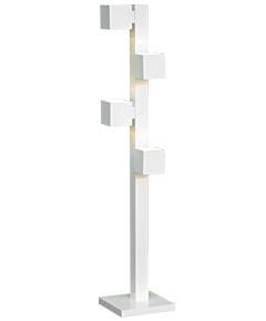フロアスタンドライト  F3181LE-W  【 CUBE-EF キューブ 】 【 E17 LED電球 3.7W型×4 (電球色) 】 【 ホワイト色 】 【 H1300×W/□250 】 【 フットスイッチ付 】 【 省エネ 】 dcs デザイン照明