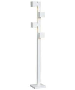 フロアスタンドライト  F3180LE-W  【 CUBE-EF キューブ 】 【 E17 LED電球 3.7W型×4 (電球色) 】 【 ホワイト色 】 【 H1700×W/□250 】 【 フットスイッチ付 】 【 省エネ 】 dcs デザイン照明