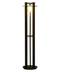 フロアスタンドライト F3223LE-V ウォールナット色 【 Woody Ring ウッディリング 】 【 E26 LED電球 7.8W型×1 】 【 ウォールナット色 】 【 H1350×W/φ300 】 【 フットスイッチ付 】 dcs デザイン照明