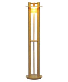 フロアスタンドライト F3223LE-V ウォールナット色 【 Woody Ring ウッディリング 】 【 E26 LED電球 7.8W型×1 (電球色) 】 【 ホワイトオーク色 】 【 H1350×W/φ300 】 【 フットスイッチ付 】 dcs デザイン照明