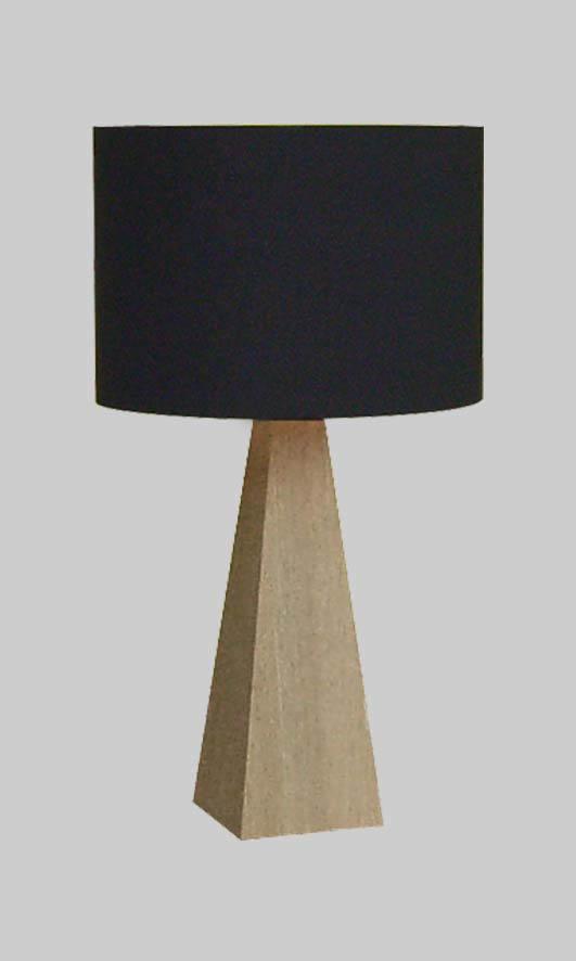 テーブルスタンド S8095LE-V  H650 【 Summit-LE サミット 】 【 E26 LED電球 9W型×1 (電球色) 】 【 本体ホワイトオーク色+シェード ブラック色 】 【 H650×W350×D350 】 【 中間スイッチ付 】 【 省エネ 】 dcs デザイン照明