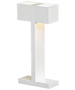 LED照明 テーブルスタンド S8021LE-W 【 CUBE-LED キューブ 】 【 E17 LED電球 3.7W×2 電球色 】 【 MDF 白色 】 【 H500×W100×D230 】 【 ロッカースイッチタイプ×2コ付 】 【 省エネ 】 デスクスタンド 卓上ライト dcs デザイン照明