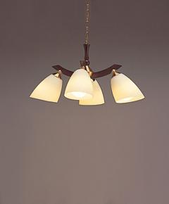 ペンダント照明 C2025LE 【 sempy-LED センプ 】 【 E26 電球型LEDランプ LDA8L×4 消費電力 31.2W 】 【 ダークブラウン色 】 【 H540~880×W700×D700 】 【 省エネ 】  dcs デザイン照明