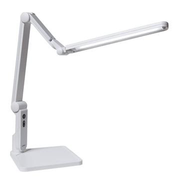 LUPINUS LEDデスクライト[ルピナス]EK320-WH2[スタンド式][昼白色][ホワイト色][無断階調光機能付き][消費電力7W][Ra80][目に優しい
