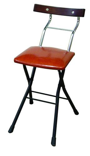 ルネセイコウ ロイドチェア LYD-48[リザードブラウン/ブラック+ダークブラウン色][折りたたみ可能][完成品]オフィス,SOHO,美容室,飲食店,ご自宅向け