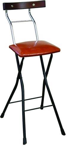 ルネセイコウ ロイドチェアハイ LYD-65[リザードブラウン/ブラック+ダークブラウン色][折りたたみ可能][完成品]オフィス,SOHO,美容室,飲食店,ご自宅向け