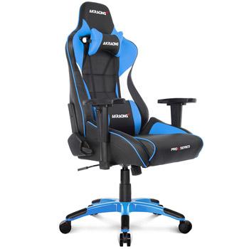 AKRACING(エーケーレーシング) ゲーミングチェア Pro-X Gaming Chair (Blue)[ブルー色][ハイバック][可動肘付][リクライニング][座面昇降][PUキャスター][組立家具]オフィス,SOHO,パソコン,自宅,医療,福祉施設,公共施設,学校,学習塾向け