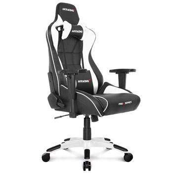AKRACING(エーケーレーシング) ゲーミングチェア Pro-X Gaming Chair (White)[ホワイト色][ハイバック][可動肘付][リクライニング][座面昇降][PUキャスター][組立家具]オフィス,SOHO,パソコン,自宅,医療,福祉施設,公共施設,学校,学習塾向け