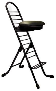 ルネセイコウ プロワークチェア ラウンド PW-700R[ブラック/ブラック色][座面高さ調節可能][折りたたみ可能][完成品]工場,町工場,ガレージ,研究室,整備工場,ドック,研究所,天体観測,オフィス,SOHO.ご自宅向け
