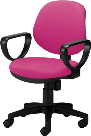 関家具 オフィスチェア カララ[Karara][背座:ピンク色(布張り)][リング肘付][ローバック][ナイロンキャスター][座面昇降][リクライニング機構搭載][組立家具]オフス,SOHO,オフィス,SOHO,病院・福祉施設,ご自宅向け