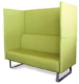 関家具 ソフトボックス 吸音パネル付きソファ[Soft Box][サイド付き][布張り][グリーン色][組立家具]会議室,オフィス,SOHO,病院・福祉施設,自動車販売店,カフェ向け