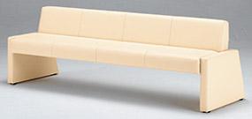 【着後レビューで 送料無料】 ロビーチェア MBC-91SB 3人掛け用 ベンチベッド[W1800×D630×SH400mm][PVCレザー アイボリー色][完成品]病院・医院・医療・福祉施設・デイサービス・デイケア・ショートステイ・グループホーム・介護保険施設向け, Amazingstore 9cf52bae