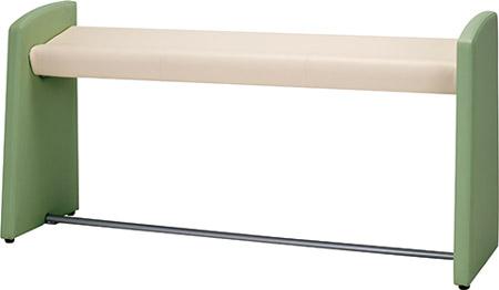 スタンドチェア MBC-ST-150[W1500×D460×H750×SH630mm][PVCレザー 選べる全3色][完成品]病院,医院,医療,福祉施設,休憩所,整形外科,リハビリ病院向け